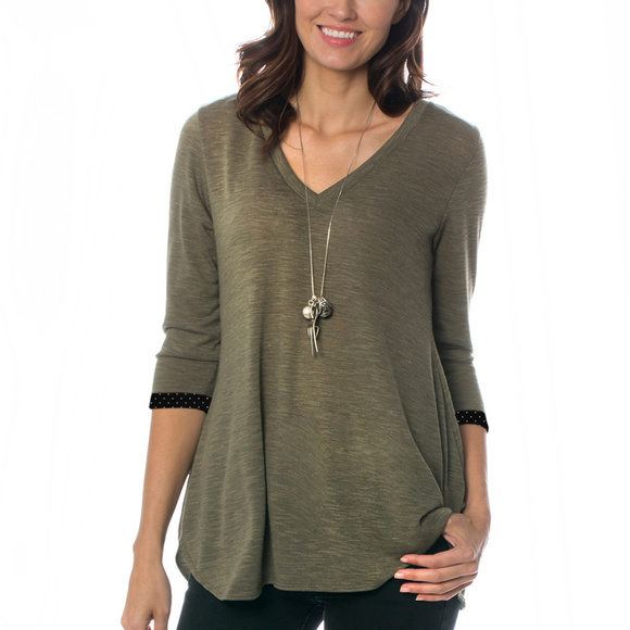 b53258bdede MAJAMAS Tops | Earth Ecofriendly Swingy Vneck Shirt Top | Poshmark